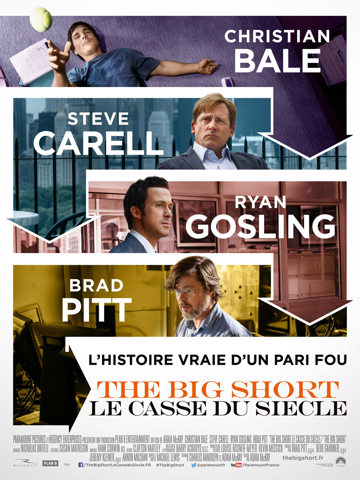 The Big Short : le Casse du siècle affiche