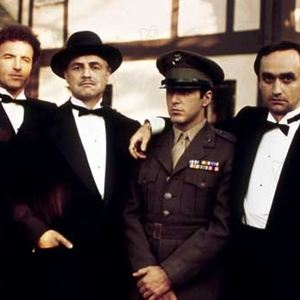 Le Parrain : Photo Al Pacino, James Caan, John Cazale, Marlon Brando