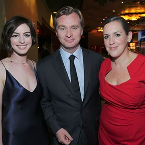 Interstellar : Photo promotionnelle Anne Hathaway, Christopher Nolan, Emma Thomas