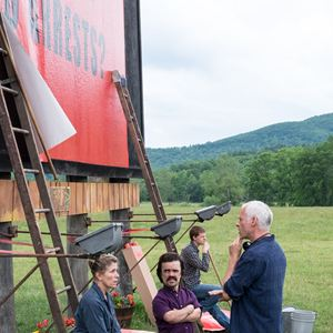 3 Billboards, Les Panneaux de la vengeance : Photo Frances McDormand, Martin McDonagh, Peter Dinklage