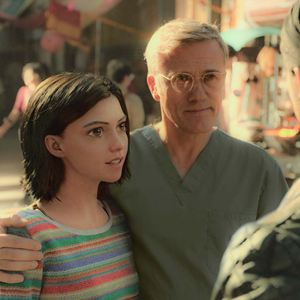 Alita : Battle Angel : Photo Christoph Waltz, Rosa Salazar