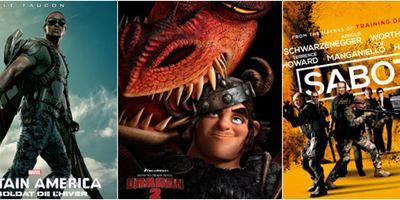 """""""Captain America"""",""""Dragons 2"""", """"Sabotage""""...: Le plein d'affiches !"""