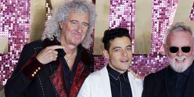 Bohemian Rhapsody : Rami Malek et les membres du groupe Queen à l'avant-première