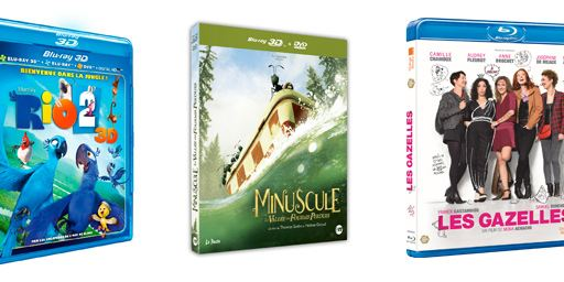 Minuscule, Les Gazelles, Rio 2... Les 10 blu-rays / DVD à se procurer d'urgence en août !