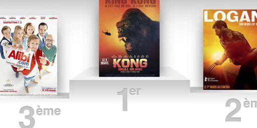 Box-office France : Kong Skull Island reste au sommet