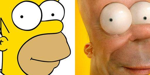 Les Simpson, Bob l'éponge, Futurama : si les personnages animés étaient réels, ils seraient terrifiants