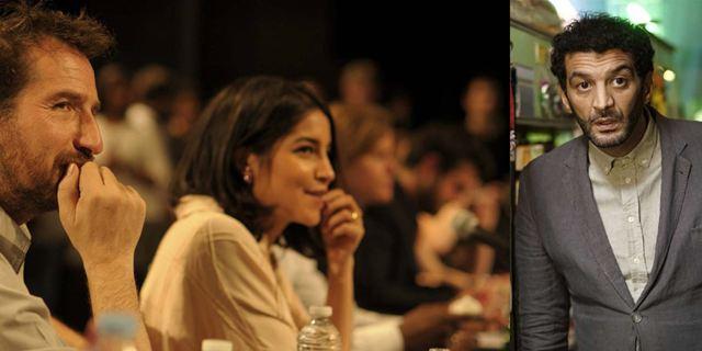 Leila Bekhti, Edouard Baer et Ramzy chez le réalisateur du Nom des gens