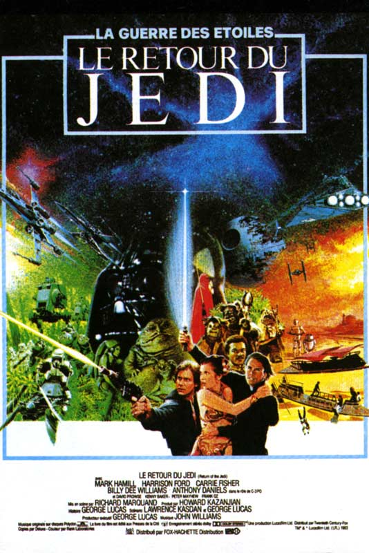 affiche du film star wars episode vi le retour du jedi affiche 1 sur 1 allocin. Black Bedroom Furniture Sets. Home Design Ideas