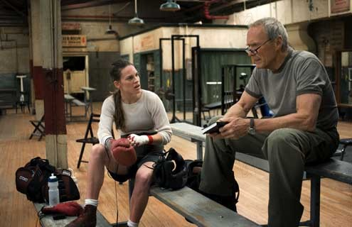 Million Dollar Baby : photo Clint Eastwood, Hilary Swank