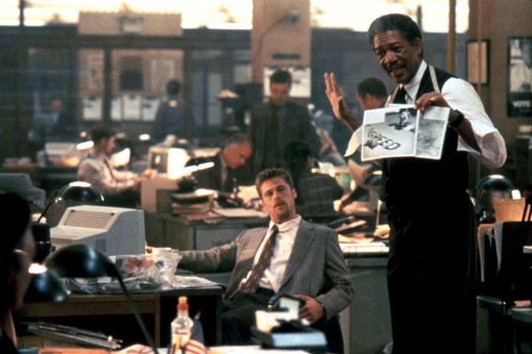 Seven : Photo Brad Pitt, Morgan Freeman