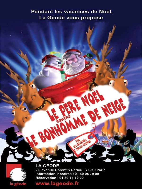 Le p re no l contre le bonhomme de neige court m trage allocin - Pere noel et mere noel ...