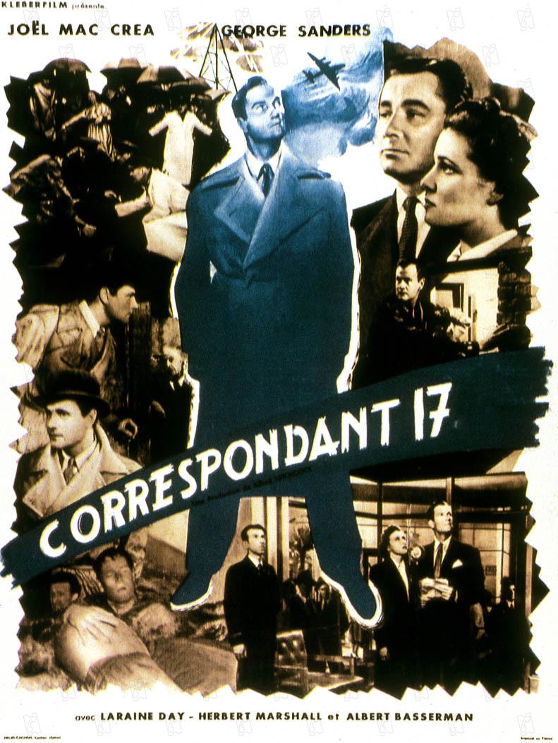 Correspondant 17 : Photo George Sanders, Herbert Marshall, Joel McCrea, Laraine Day