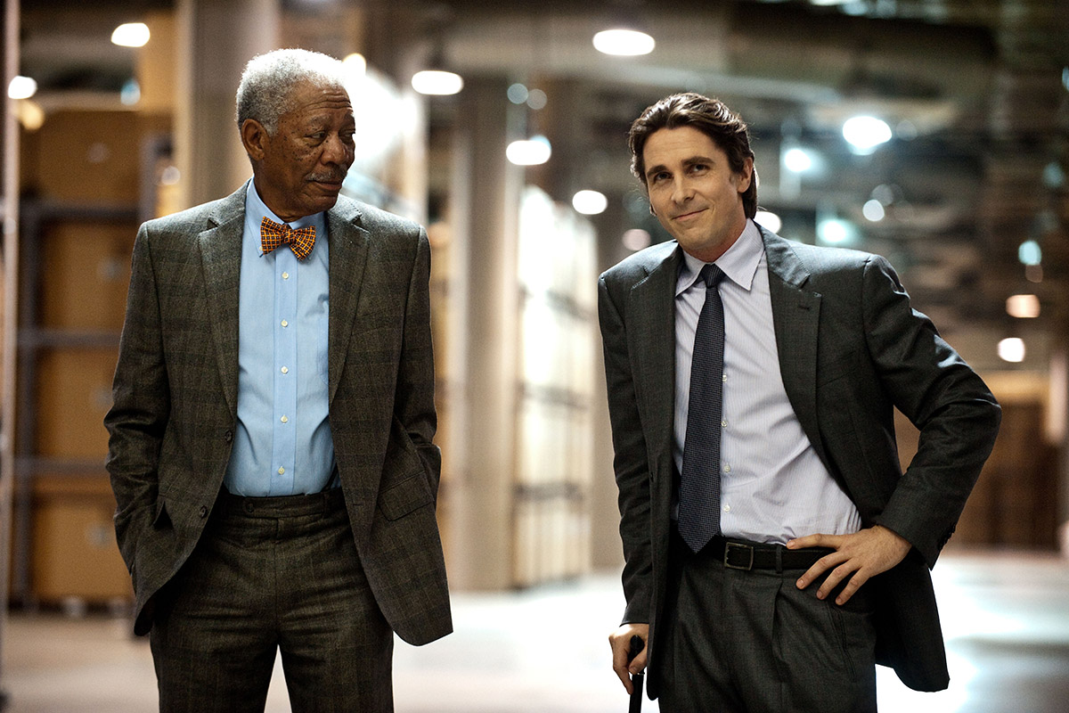 The Dark Knight Rises : Photo Christian Bale, Morgan Freeman