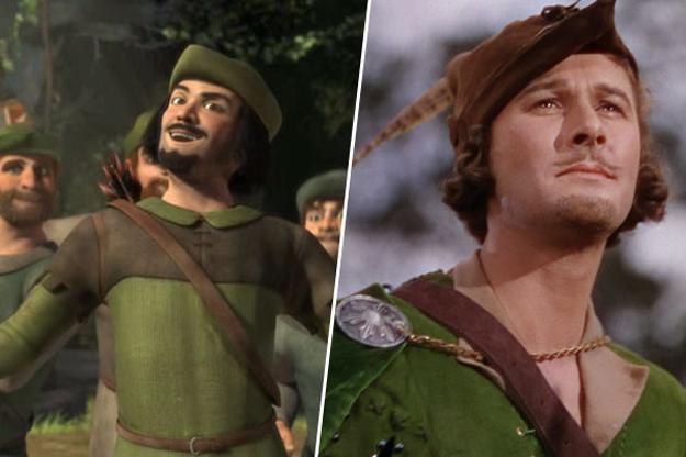 des Bois (Shrek), inspiré par Errol Flynn (Les Aventures de Robin des  ~ Acteur De Robin Des Bois
