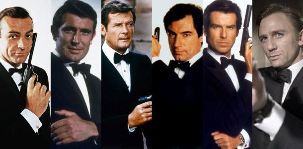 Les acteurs qui ont incarné James Bond au cinéma