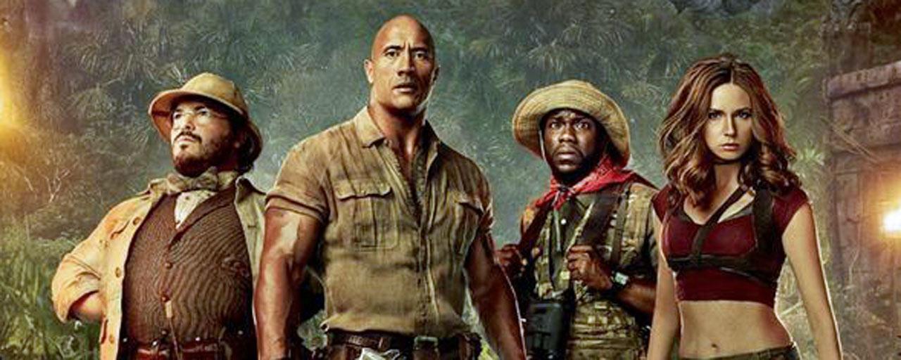 Jumanji : quatre affiches pour les héros du film d'aventure