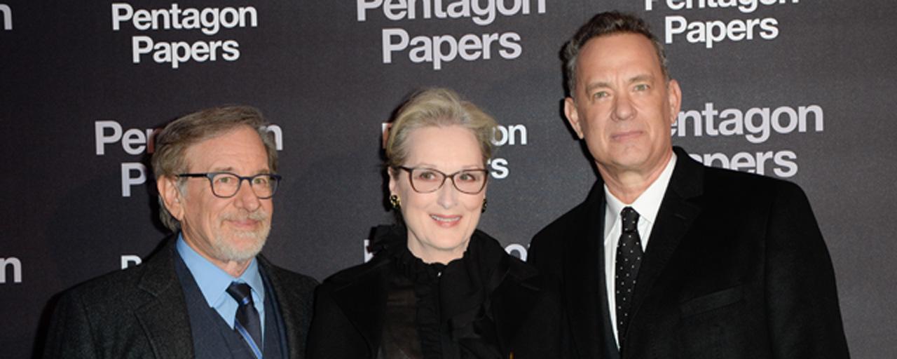 """Pentagon Papers : pour Steven Spielberg, """"cette femme doit découvrir qui elle est parmi un océan d'hommes"""""""