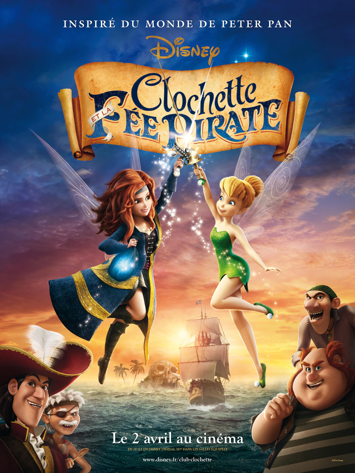 Clochette et la Fée Pirate Multi (VO-VFF) - HD Light 1080p
