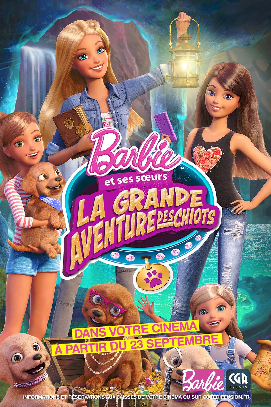 telecharger Barbie - La grande aventure des chiots (CGR Events) 1080p Gratuit
