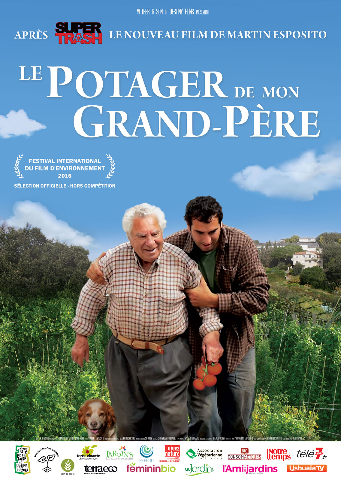 affiche du film le potager de mon grand p re affiche 1. Black Bedroom Furniture Sets. Home Design Ideas