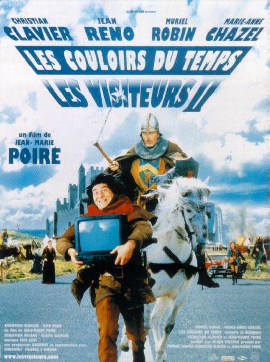 Les Visiteurs 2 : Les couloirs du temps : affiche Christian Clavier, Jean Reno, Jean-Marie Poiré