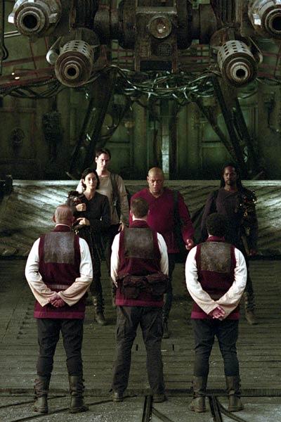 Matrix Reloaded : Photo Carrie-Anne Moss, Harold Perrineau, Keanu Reeves, Laurence Fishburne