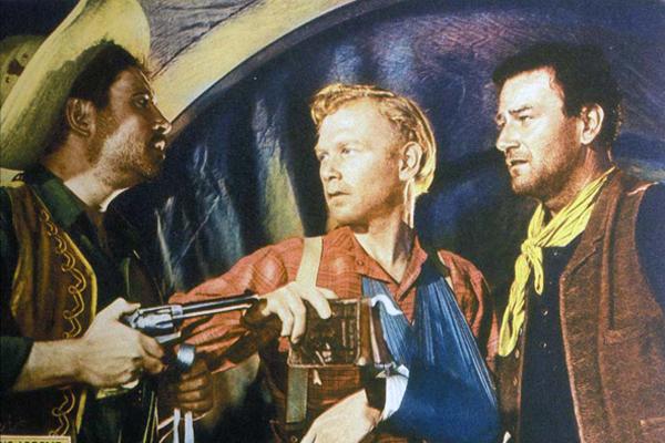 Le Fils du désert : Photo Harry Carey Jr., John Ford, John Wayne, Pedro Armendariz