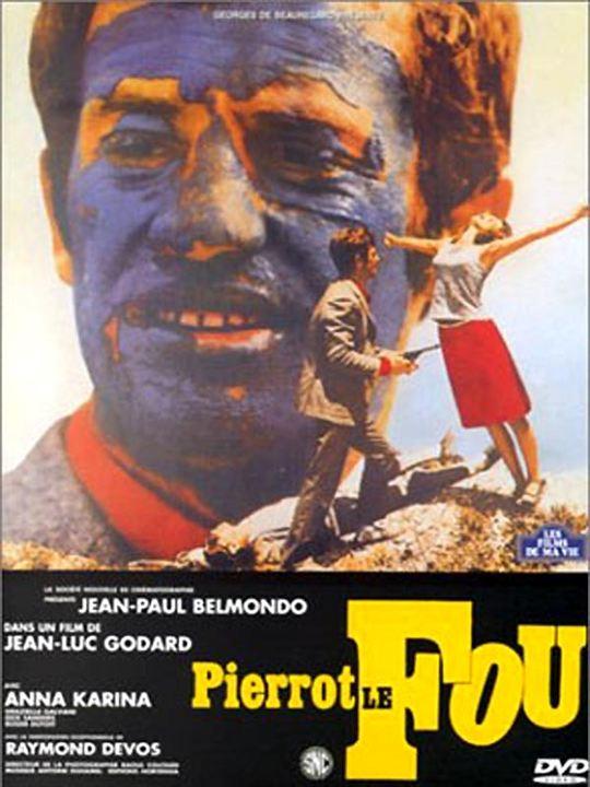 Pierrot le Fou : Affiche Jean-Luc Godard, Jean-Paul Belmondo