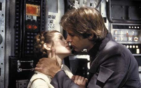 Star Wars : Episode V - L'Empire contre-attaque : Photo Carrie Fisher, Harrison Ford, Irvin Kershner