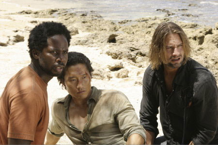 Lost, les disparus : Photo Daniel Dae Kim, Harold Perrineau, Josh Holloway