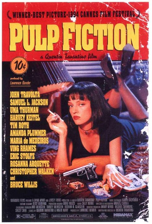 Pulp Fiction : Affiche Uma Thurman