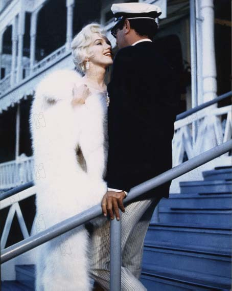 Certains l'aiment chaud : Photo Marilyn Monroe, Tony Curtis