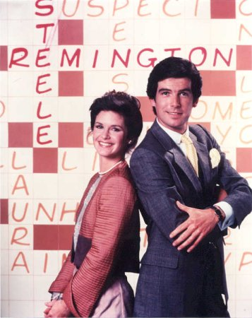 Les Enquêtes de Remington Steele : Photo Pierce Brosnan, Stephanie Zimbalist