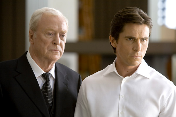 The Dark Knight, Le Chevalier Noir : Photo Christian Bale, Michael Caine