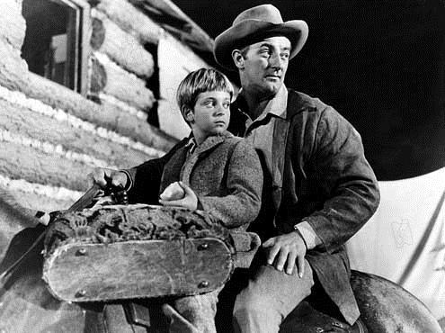 Rivière sans retour : Photo Otto Preminger, Robert Mitchum, Tommy Rettig