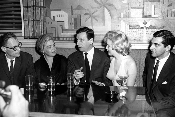 Le Milliardaire  Photo Arthur Miller, Marilyn Monroe, Simone Signoret, Yves Montand