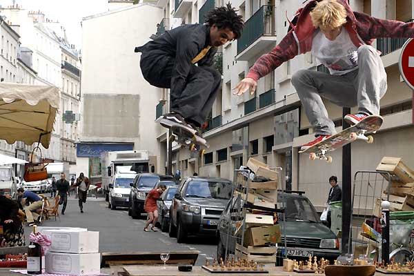 Skate or Die : Photo Idriss Diop, Mickey Mahut, Miguel Courtois Paternina