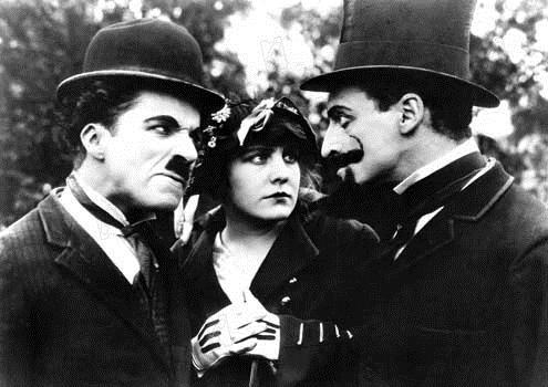 Charlot veut se marier : Photo Charles Chaplin, Edna Purviance, Leo White