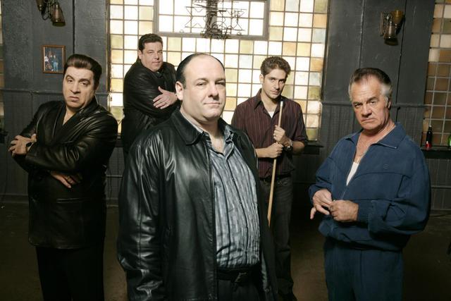 Les Soprano : Photo James Gandolfini, Michael Imperioli, Steve Schirripa, Steve Van Zandt, Tony Sirico