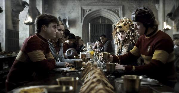 Harry Potter et le Prince de sang mêlé : Photo Daniel Radcliffe, Emma Watson, Evanna Lynch, Rupert Grint