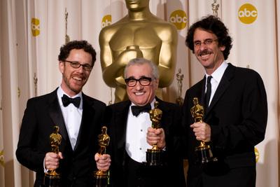 Cérémonie des Oscars 2008 : Photo Ethan Coen, Joel Coen, Martin Scorsese