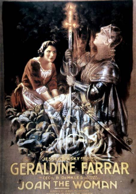 Jeanne d'arc : affiche Cecil B. DeMille