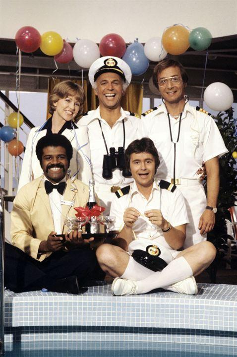 La Croisière s'amuse : Photo Bernie Kopell, Fred Gandry, Gavin MacLeod, Lauren Tewes, Ted Lange