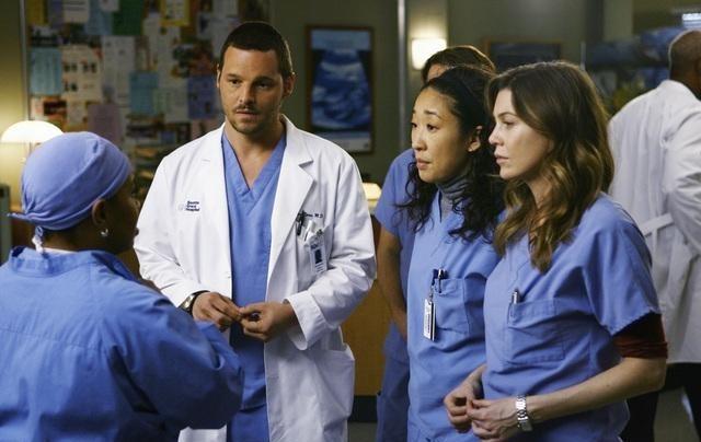 Grey's Anatomy : Photo Chandra Wilson, Ellen Pompeo, Justin Chambers, Sandra Oh