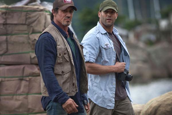 Expendables : unité spéciale : Photo Jason Statham, Sylvester Stallone