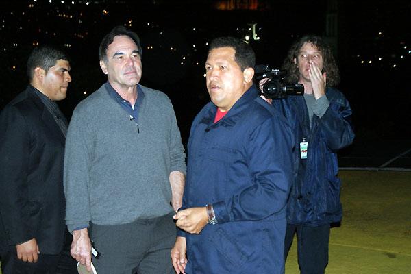 South of the Border : Photo Hugo Chavez, Oliver Stone