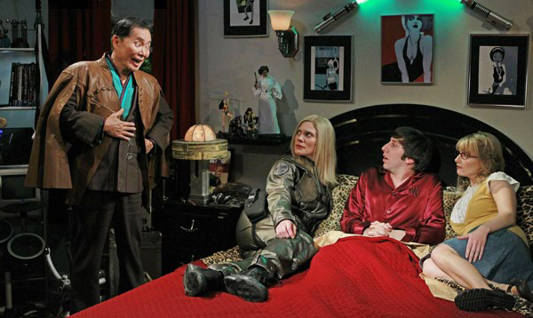 The Big Bang Theory : Photo George Takei, Katee Sackhoff, Melissa Rauch, Simon Helberg