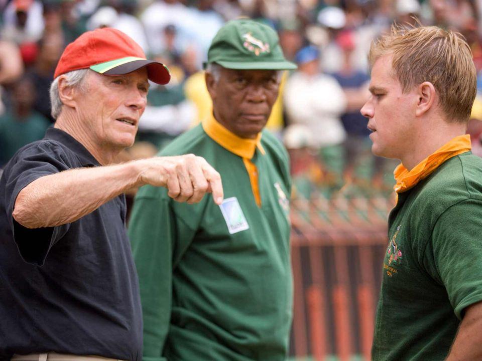 Invictus : Photo Clint Eastwood, Matt Damon, Morgan Freeman