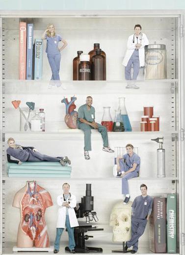 Scrubs : Photo Dave Franco, Donald Faison, Eliza Coupe, John C. McGinley, Kerry Bishe