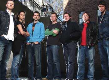 The Quatermass Experiment : Photo Adrian Bower, Adrian Dunbar, Andrew Tiernan, David Tennant, Indira Varma